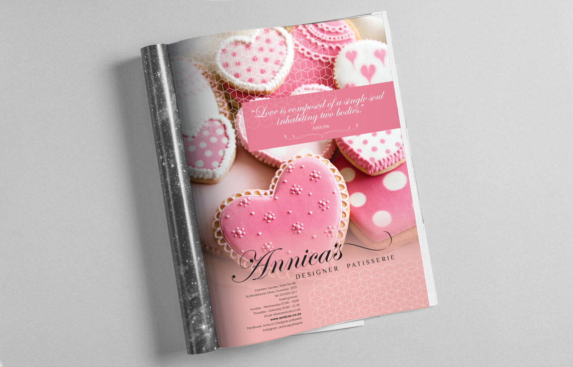 Annica's Valentines Day Advertisement Design by Black Rooster Studios