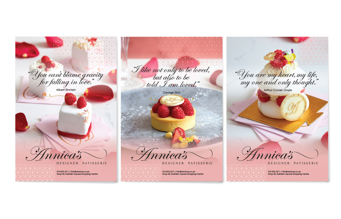 Annica's Valentines Day Poster Design by Black Rooster Studios