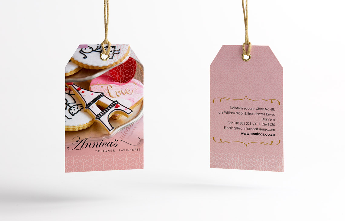 Annica's Valentines Day Gift Tag Design by Black Rooster Studios