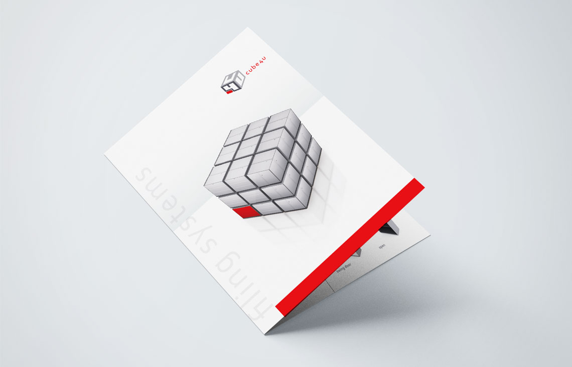 graphic design | Cube4U brochure Design