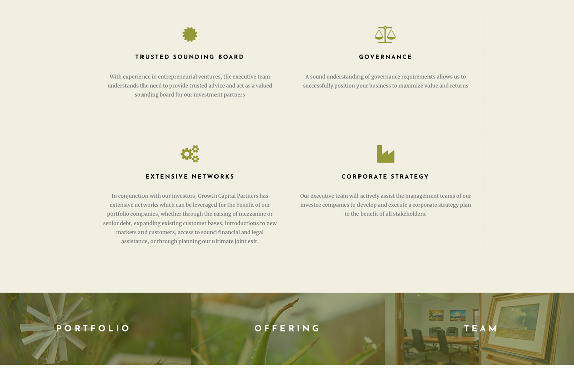 Growth Capital Partners Web Design by Black Rooster Studios.