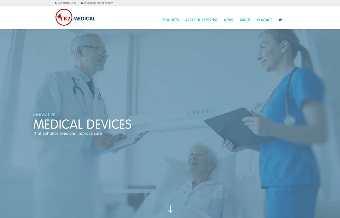 K2 Medical website home page