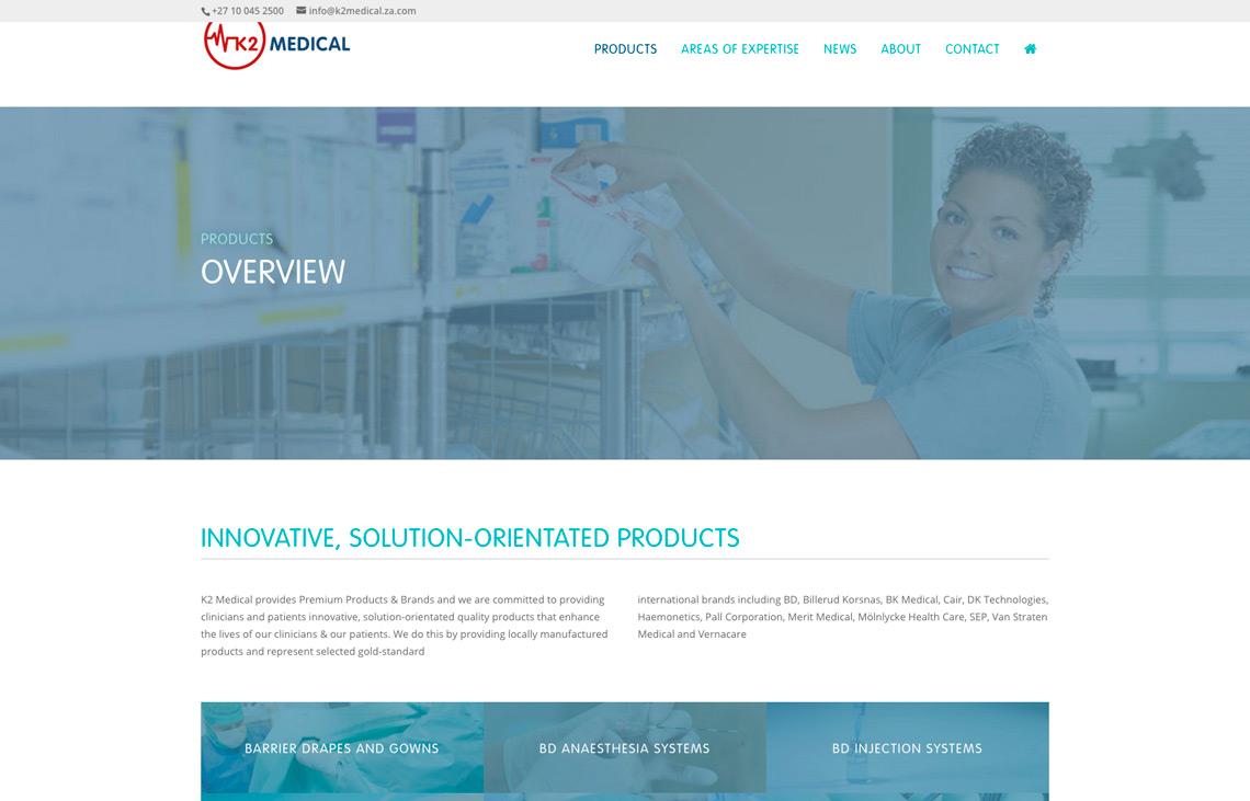 K2 Medical website masthead treatment