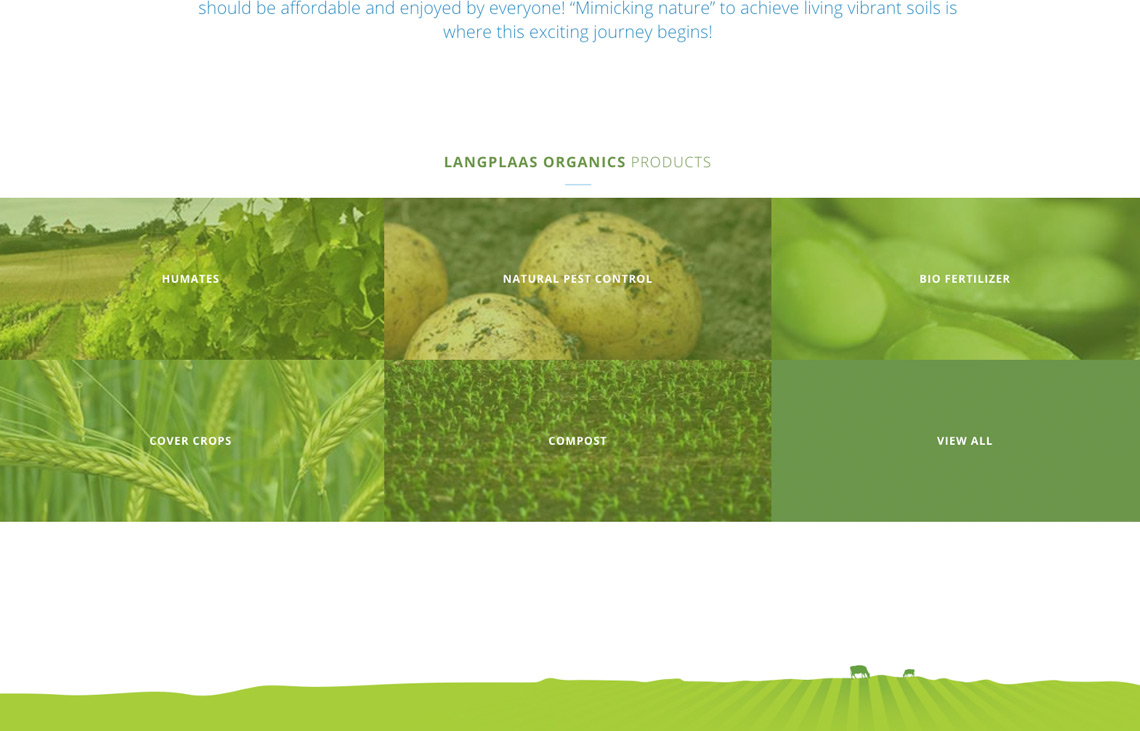 Langplaas Organics Product category grid