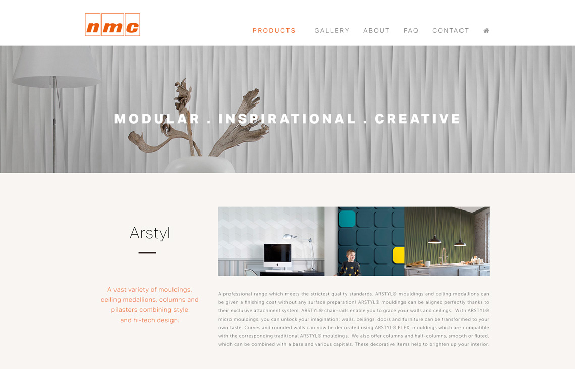 Proposed website for NMC South Africa.
