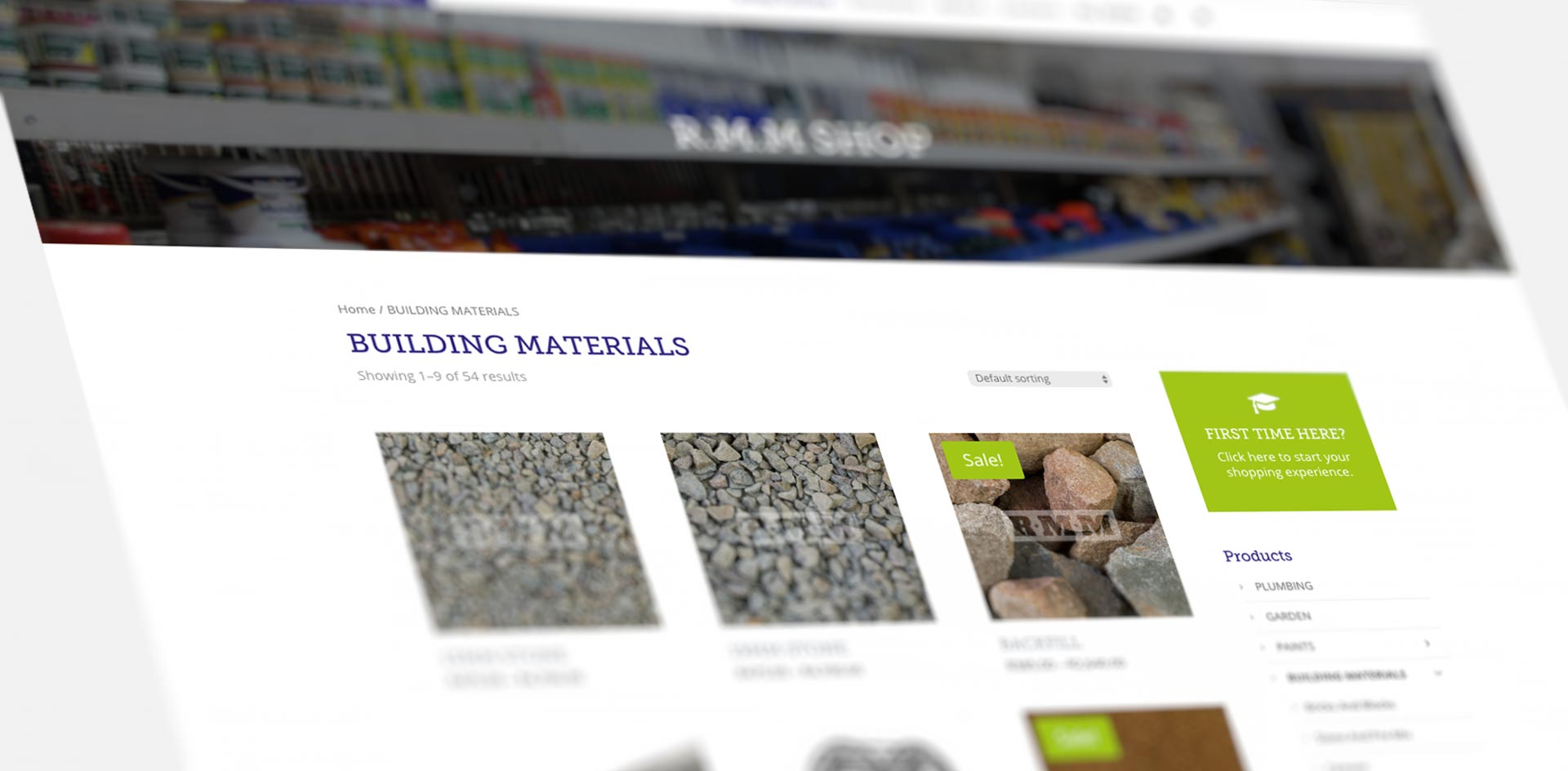 RMM building supplies Web Design & Graphic Design by Black Rooster studios
