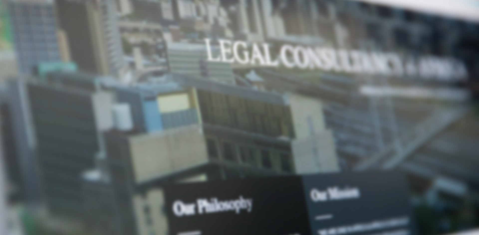 Legal Consulting 4 Africa Web Design & Graphic Design by Black Rooster Studios
