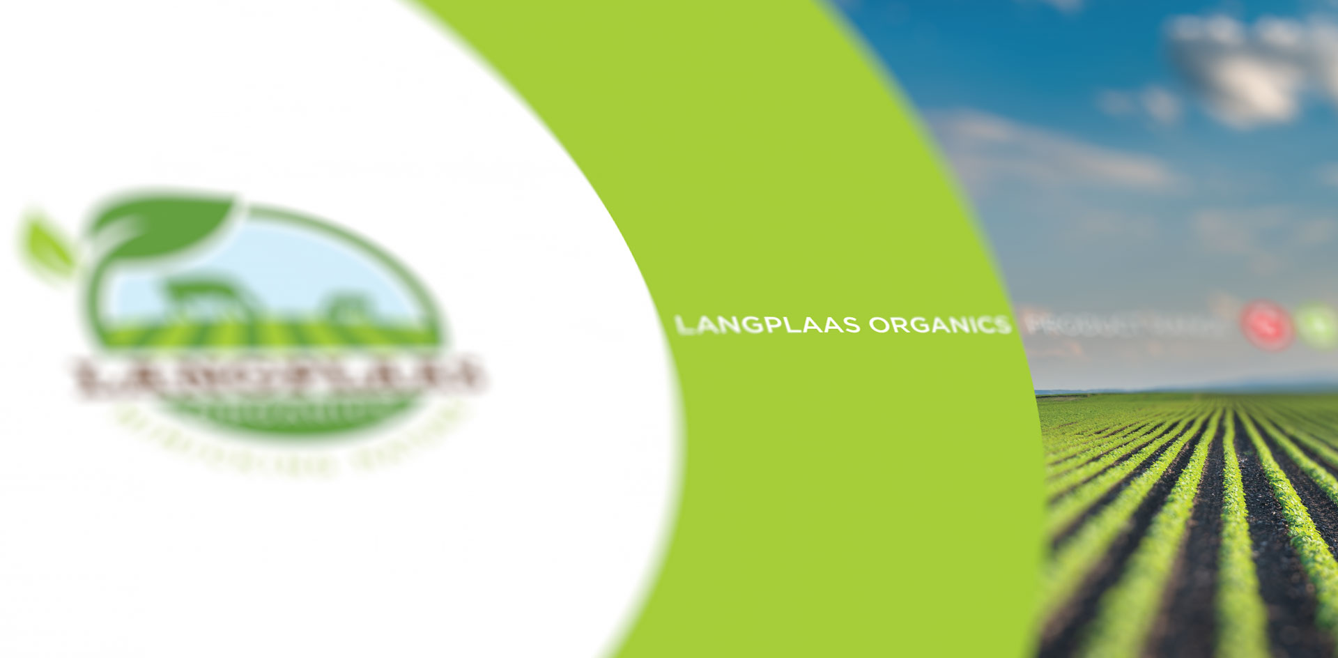 Langplaas organics graphic design by Black Rooster Studios